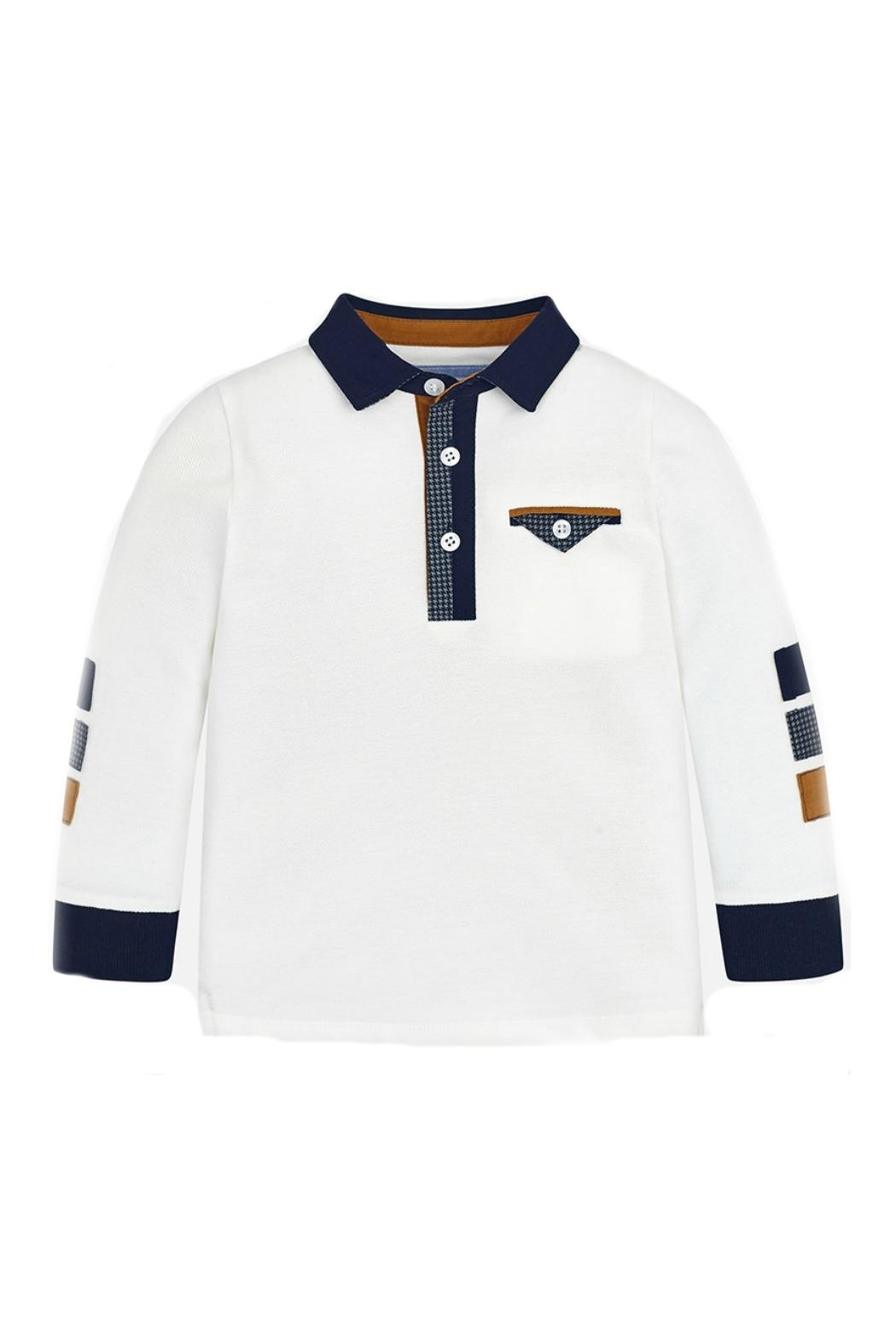Mayoral Boys Contrasting-Elbow-Patch Polo - Main Image
