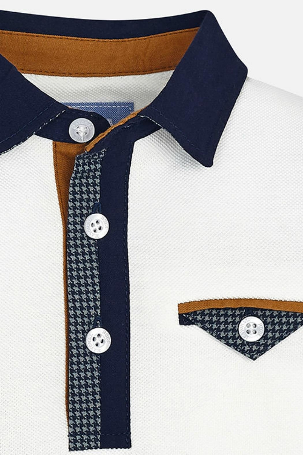 Mayoral Boys Contrasting-Elbow-Patch Polo - Side Cropped Image