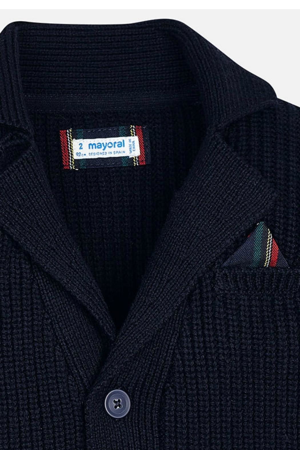 Mayoral Boys Elbow-Patch Cardigan - Side Cropped Image