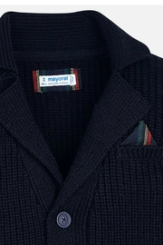 Mayoral Boys Elbow-Patch Cardigan - Side cropped