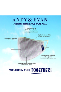Andy & Evan Child Face Masks 2-6 Years - Alternate List Image
