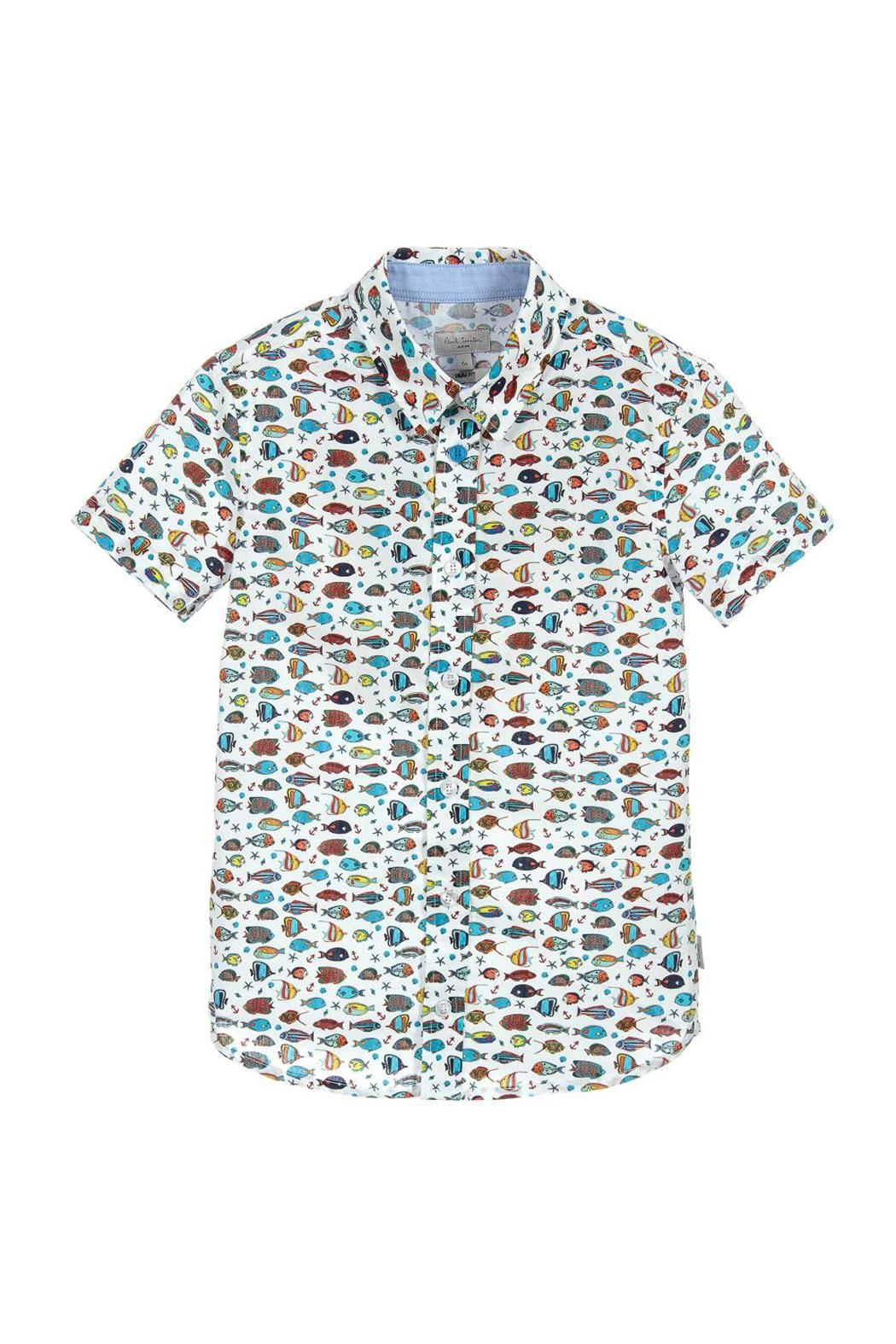 Paul Smith Junior Boys Fish-Print Shirt - Main Image
