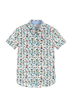 Paul Smith Junior Boys Fish-Print Shirt - Product List Image