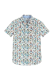 Paul Smith Junior Boys Fish-Print Shirt - Front cropped