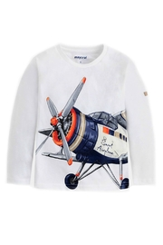 Mayoral Boys-Long-Sleeve-Airplane-Shirt - Side cropped