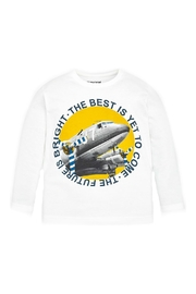 Mayoral Boys-Long-Sleeve-Vintage-Airplane-Shirt - Front cropped