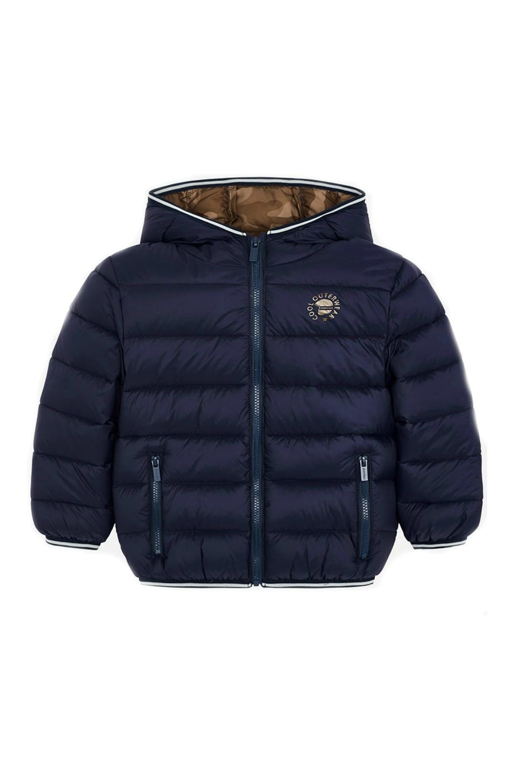 Mayoral Boys-Navy-Jacket-With-Hood - Side Cropped Image