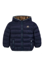 Mayoral Boys-Navy-Jacket-With-Hood - Side cropped