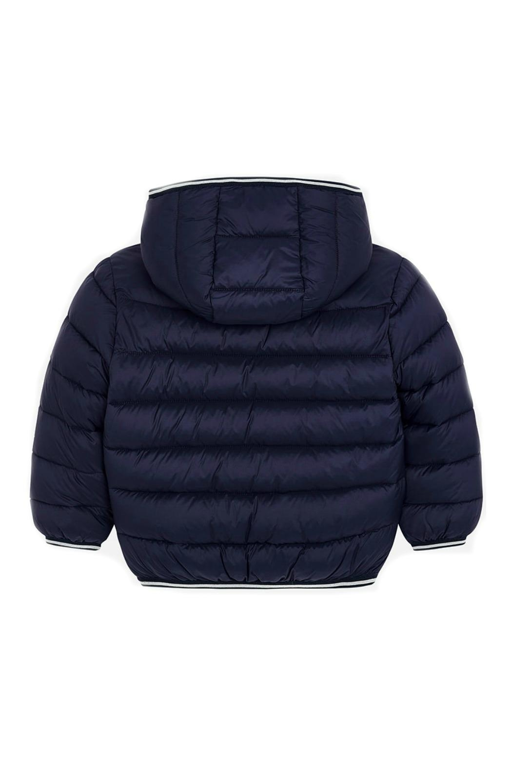 Mayoral Boys-Navy-Jacket-With-Hood - Front Full Image