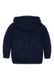 Mayoral Boys-Navy-Knit-Toggle-Cardigan-With-Hood - Front full body
