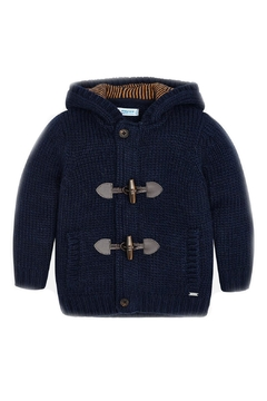 Shoptiques Product: Boys-Navy-Knit-Toggle-Cardigan-With-Hood