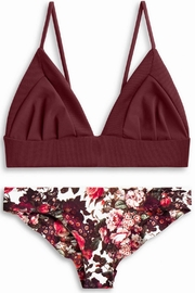 boys + arrows Dana Top Burgundy - Front cropped