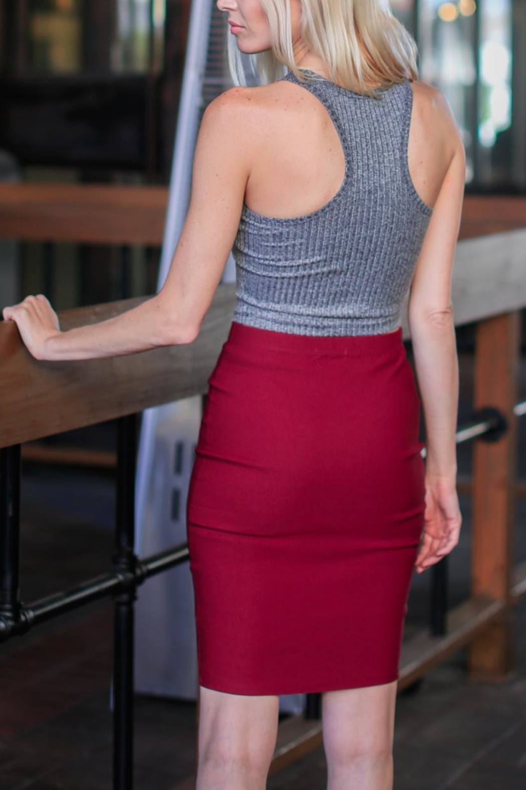 Bozzolo Charcoal Halter Tank - Side Cropped Image