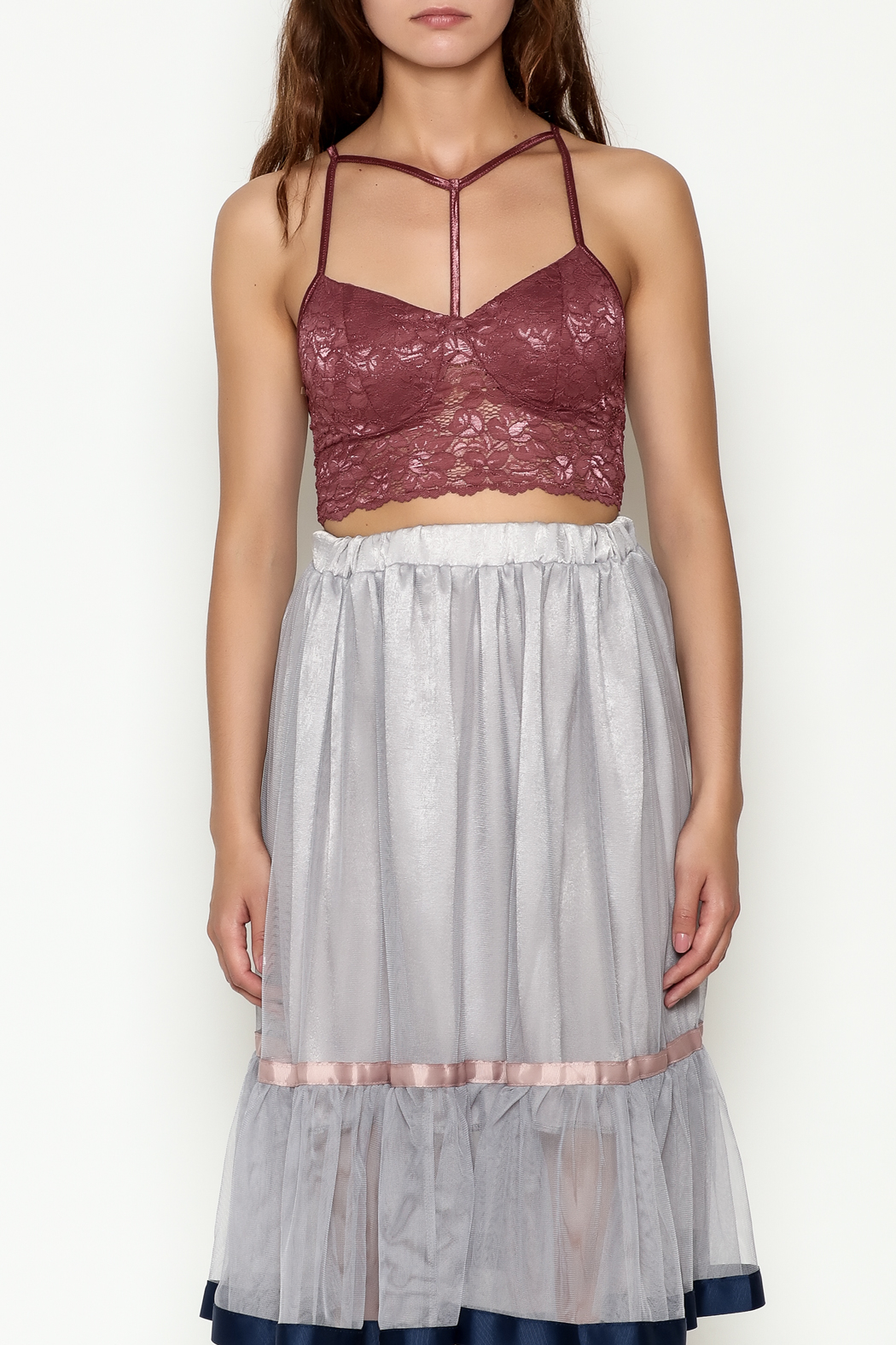Bozzolo Lace Strap Bralette - Front Full Image