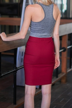 Bozzolo Maroon Business Skirt - Alternate List Image