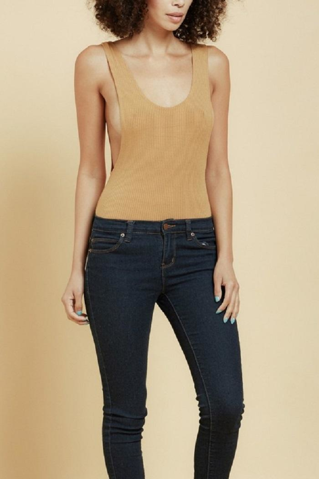 Bozzolo Open Back Bodysuit - Front Cropped Image