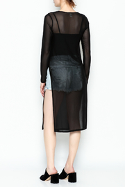 Bozzolo Slit Mesh Top - Back cropped