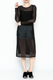 Bozzolo Slit Mesh Top - Front cropped