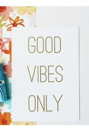 Shoptiques Product: Good Vibes Print - Front cropped