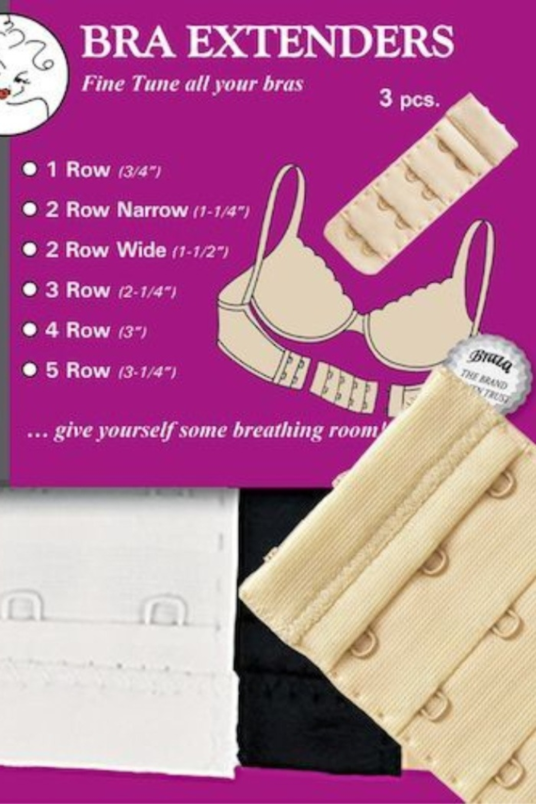 Lyn -Maree's Bra Extender - set of 3 - - Front Cropped Image