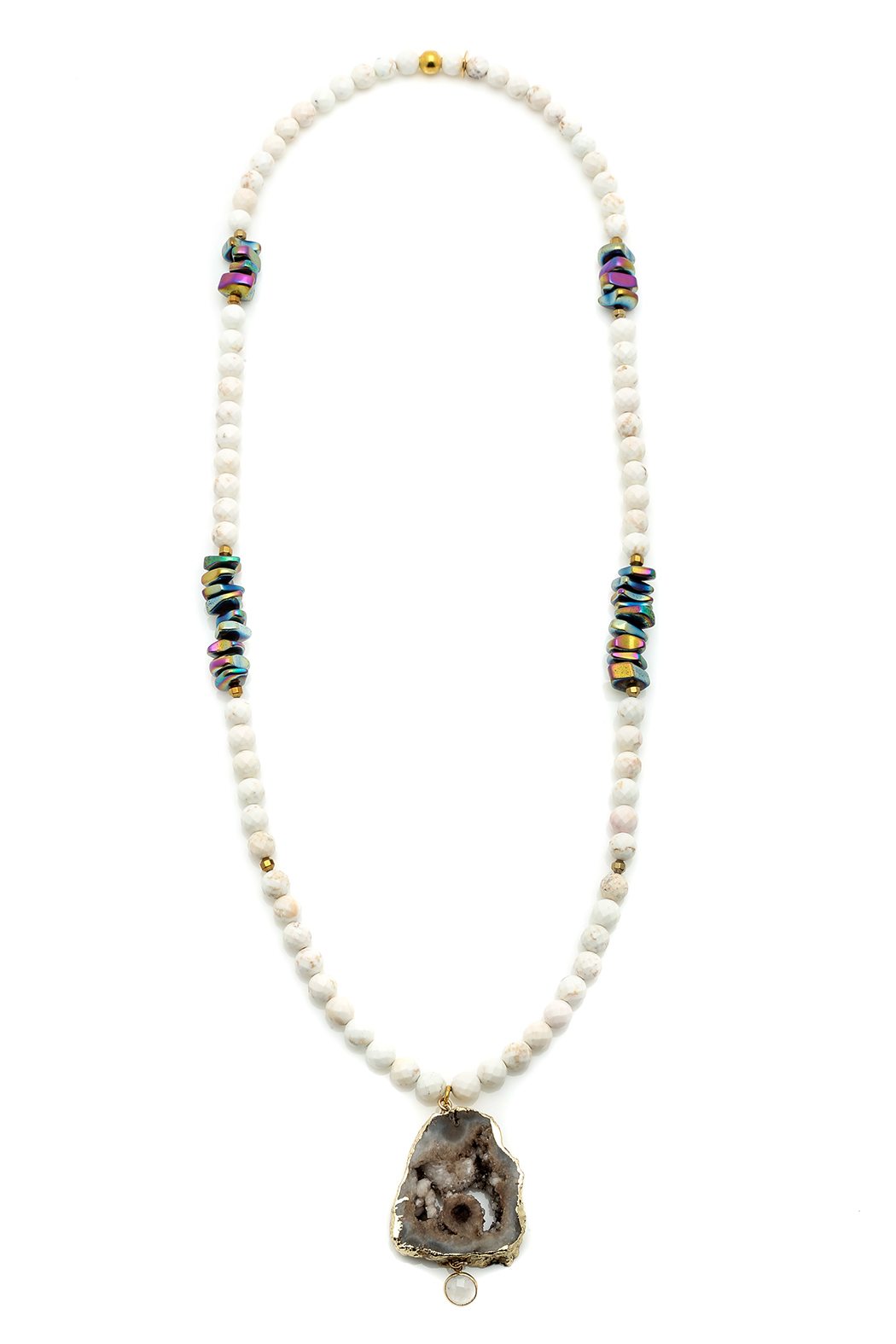 Bracha Druzy And Beads Necklace - Main Image