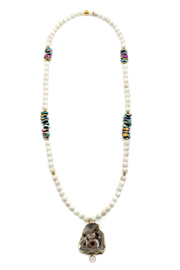 Bracha Druzy And Beads Necklace - Product Mini Image