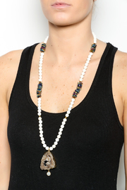 Bracha Druzy And Beads Necklace - Back cropped