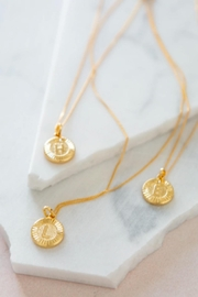 Bracha Initial Medallion Necklace - Back cropped