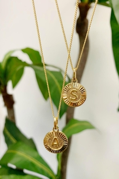 Shoptiques Product: Initial Medallion Necklace