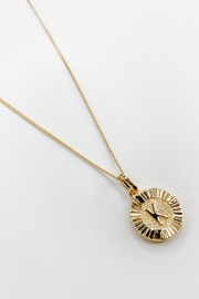 Bracha Initial Medallion Necklace - Side cropped