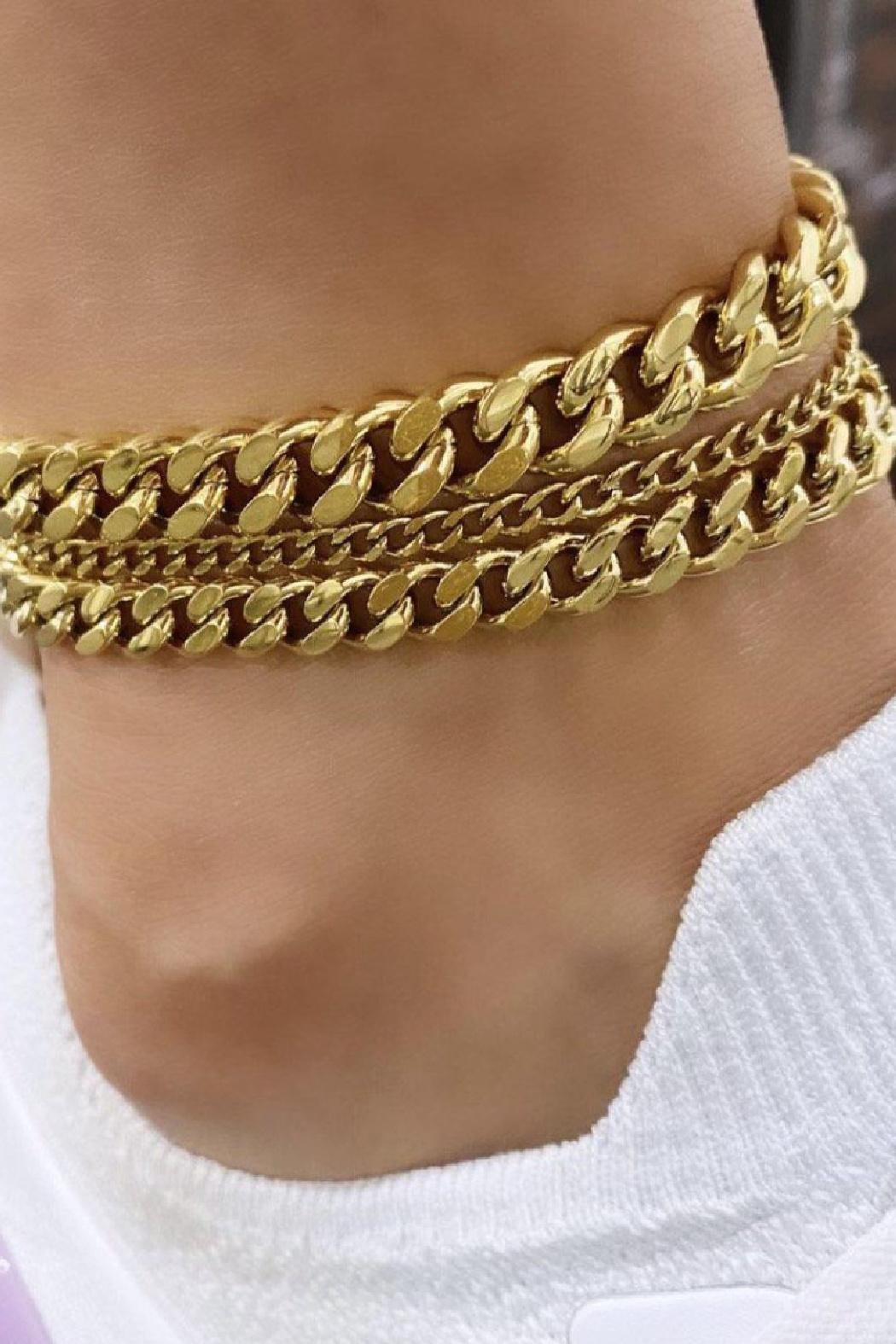 Bracha Tracy Chain Anklet - Front Full Image