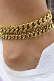 Bracha Tracy Chain Anklet - Front full body