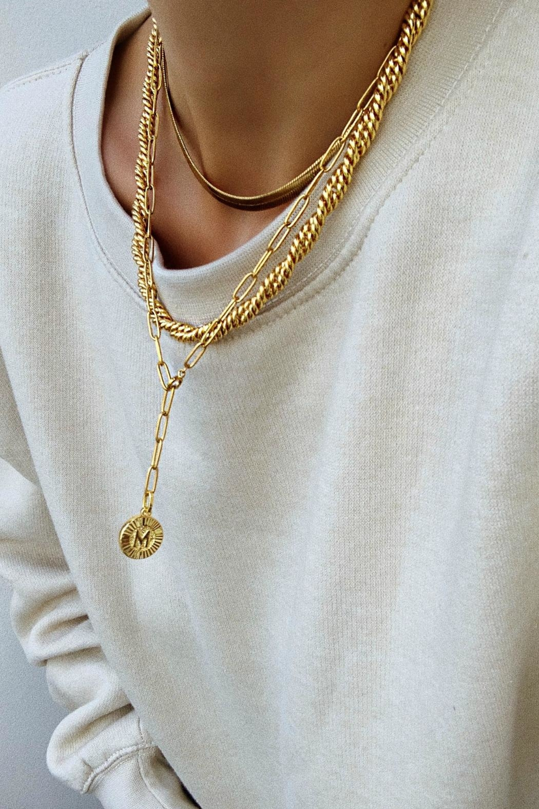 Bracha Tyra Rope Necklace - Front Full Image