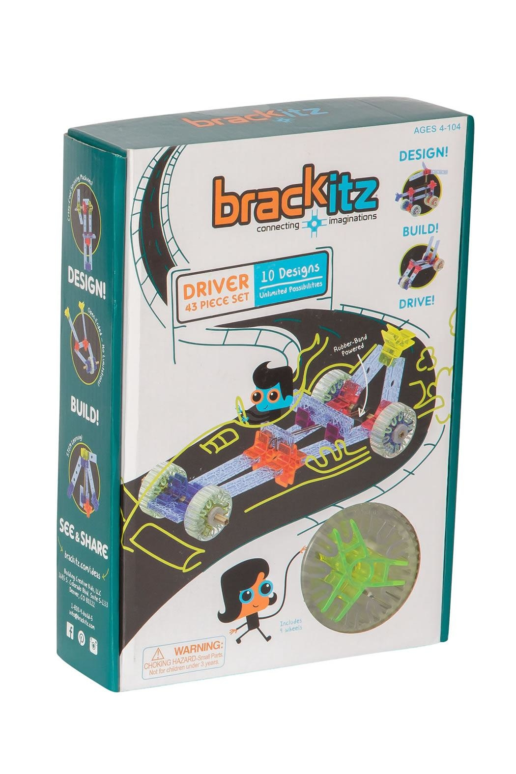 Brackitz - Building Creative Kids, LLC Driver 43 Pieces - Front Cropped Image