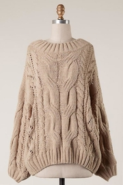 Fascination Braid Cable Knit-Sweater - Product Mini Image