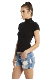 Groceries Apparel Braided Back Turtleneck - Front full body