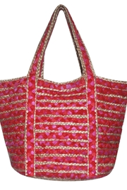 America & Beyond Braided Beach Tote - Front cropped