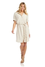 Karen Kane Braided Belt Shirtdress, Natural - Product Mini Image