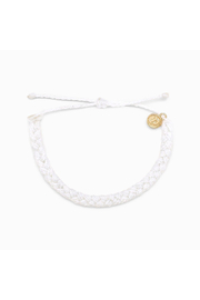Pura Vida BRAIDED BRACELET-WHITE - Product Mini Image