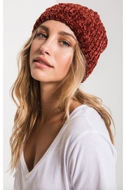 rag poets Braided Chenille Beanie - Product Mini Image