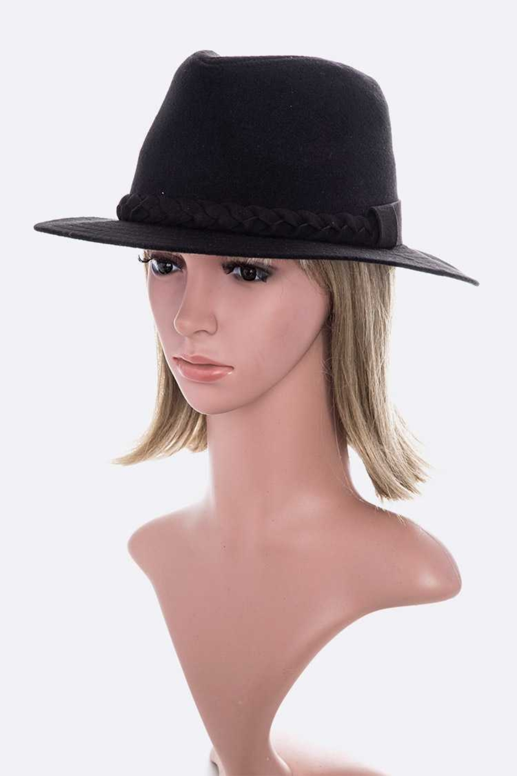 Lyn -Maree's Braided Felt Panama Hat - Main Image