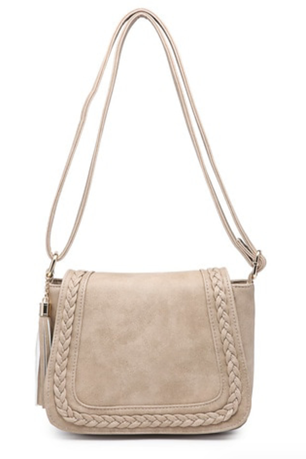 jen & co Braided Front Saddle Bag - Front Cropped Image