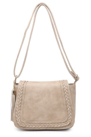 jen & co Braided Front Saddle Bag - Front cropped