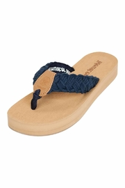 Tidewater Sandals Braided Navy Sandal - Front cropped
