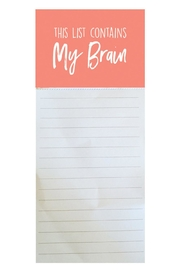 Mary Square Brain Magnetic Notepad - Product Mini Image