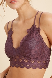 Wishlist Strappy Bralette With Scalloped Lace - Product Mini Image