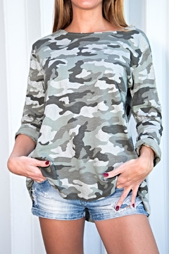 Brand Bazar Long-Sleeve Camouflage Top - Product List Image
