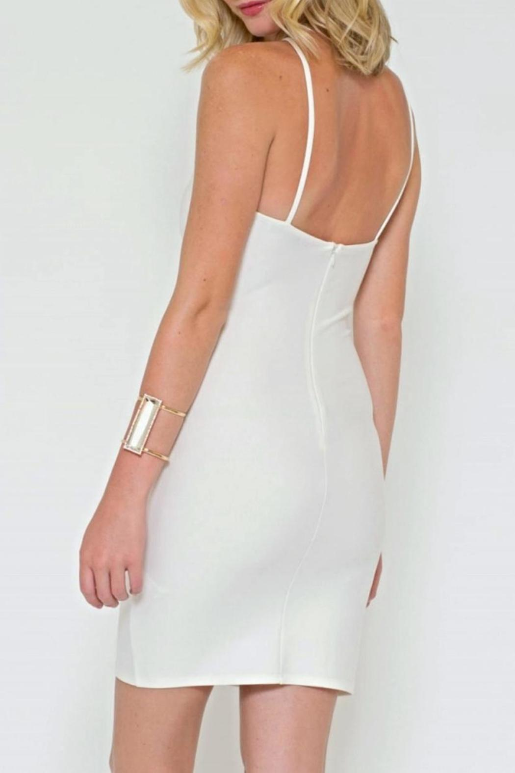 Sole Mio Cutout Bodycon Dress - Side Cropped Image