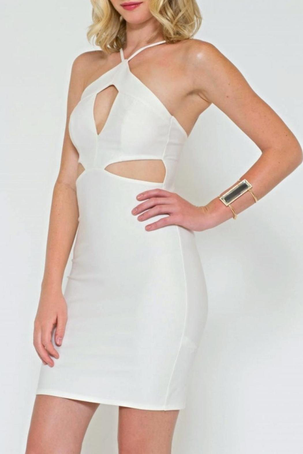 Sole Mio Cutout Bodycon Dress - Front Full Image