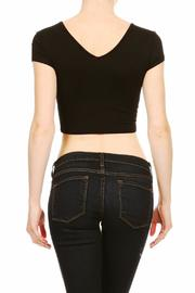 BRANDED Lace-Up Crop Top - Front full body